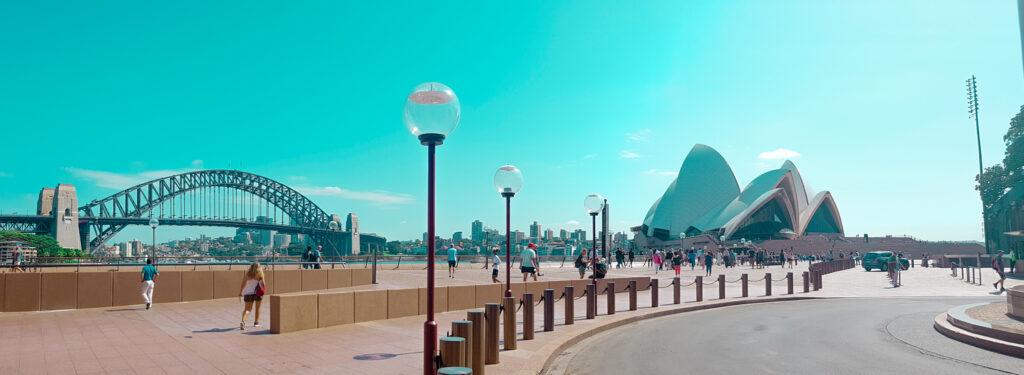 Opera house e harbour Bridge